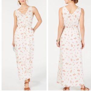 NWT Lucky Brand Floral V Neck Maxi Dress M ::C12